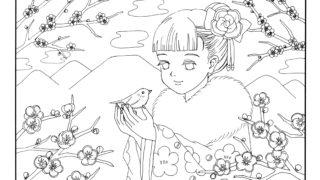 3月イラスト Kaechabi 虹色の筆